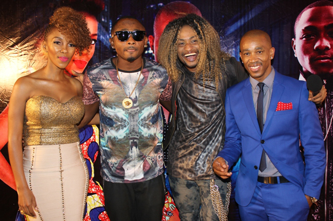 Popular OAPs, Yaw and Tee-A with Kcee at the event