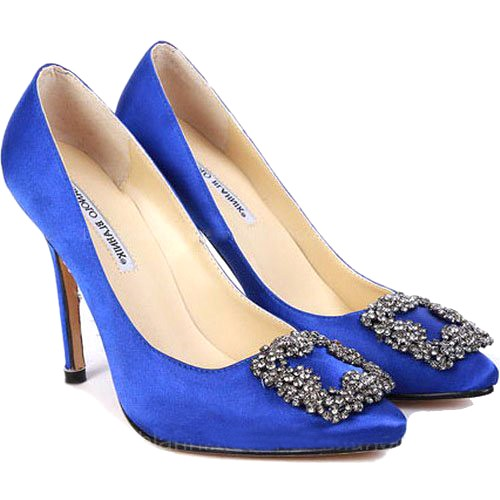 blue manolo blahnik shoes uk