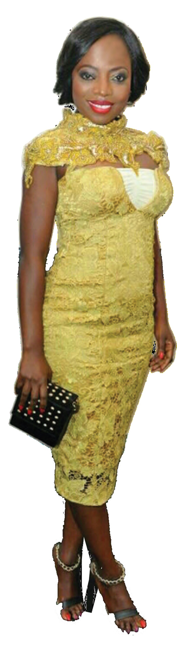 T.V PERSONALITY AND MBGN COORDINATOR, LAYOLE OYATOGUN CARRYING THE DOT STUDDED MINI.