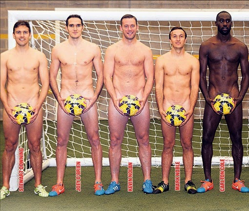 Football players strip