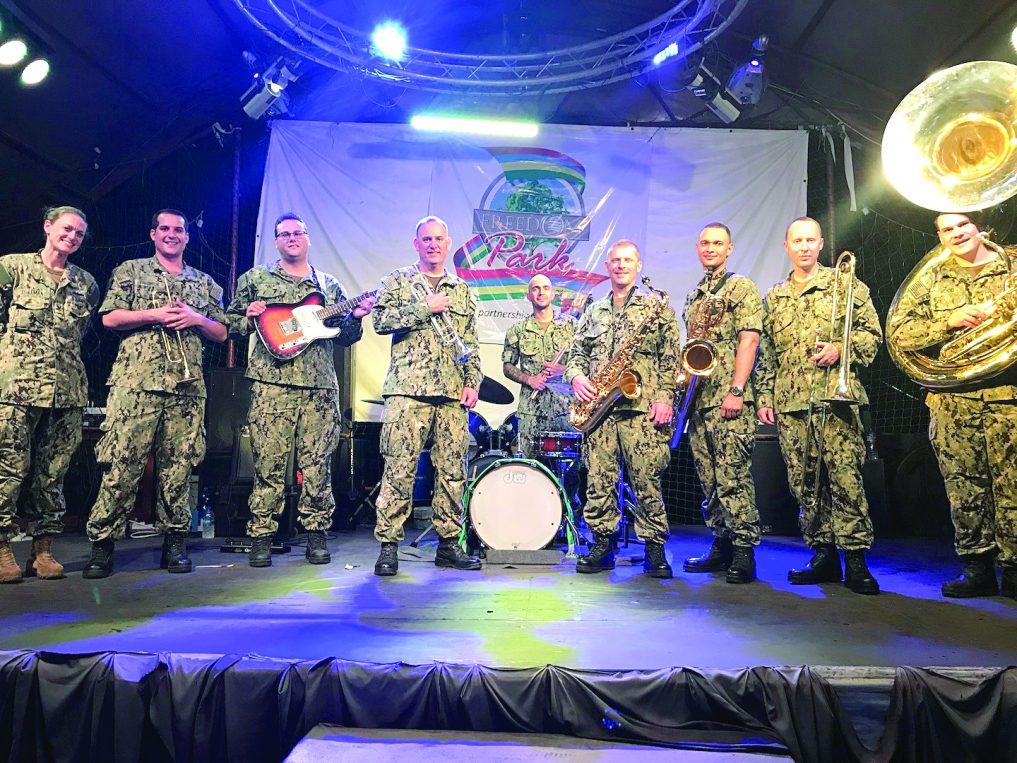U S  Navy band thrill Nigerians with Fela's 'Water no get