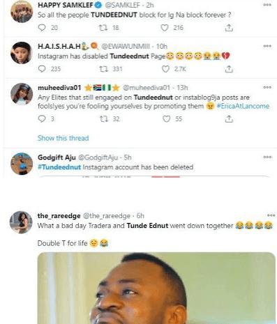 Nigerian Celebrity Blogger Tunde Ednut Allegedly Kicked Out Of Instagram Glamsquad Magazine The shade room of africa. nigerian celebrity blogger tunde ednut